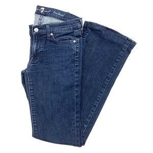 7 For All Mankind Dark Wash Boot Cut Jeans
